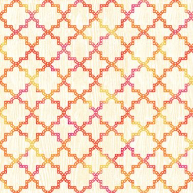Quadrafoil - Cream_Pink_Orange