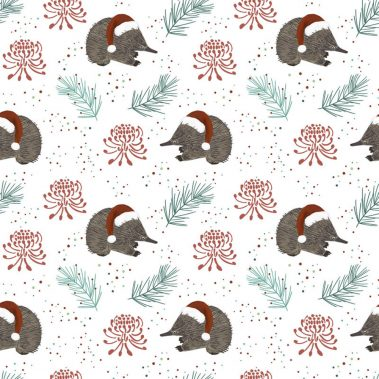 Echidna Christmas - Cream