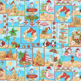 Holiday Beach Patch - Blue