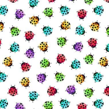 Ladybugs - White
