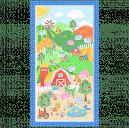 Farm Quilt Panel - Green