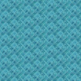 Coastal Christmas Circle Grid - Blue - 23428-44